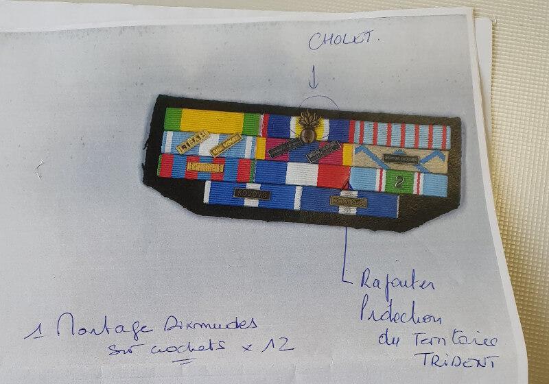 Montage barrette dixmude militaire existant