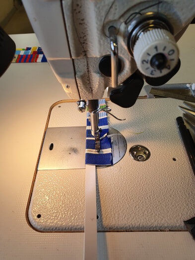 Montage de barrettes dixmude - couture tige bandalium
