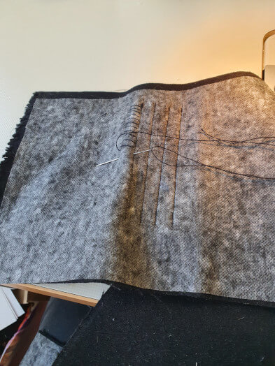Montage barrette dixmude feutrine couture