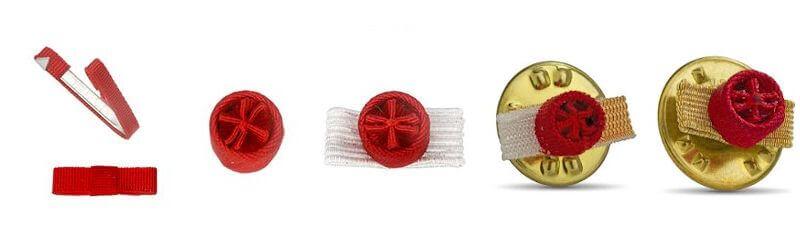 rosette et ruban de boutonnière de la médaille de la légion d'honneur