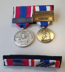 montage médaille militaire en format ordonnance et barrette dixmude