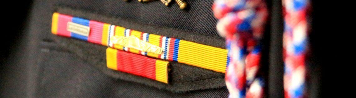 porter médaille associative pompier union départementale