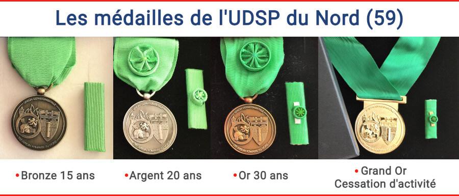 Médaille de l'union départementale des sapeurs-pompiers du Nord 59
