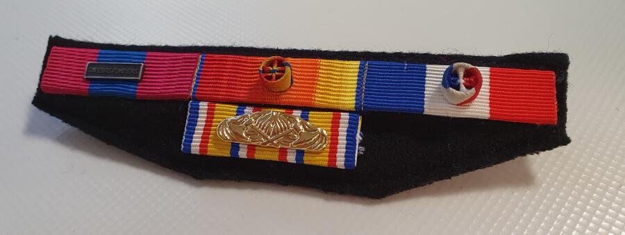 montage medailles sapeurs-pompiers barrette decoration