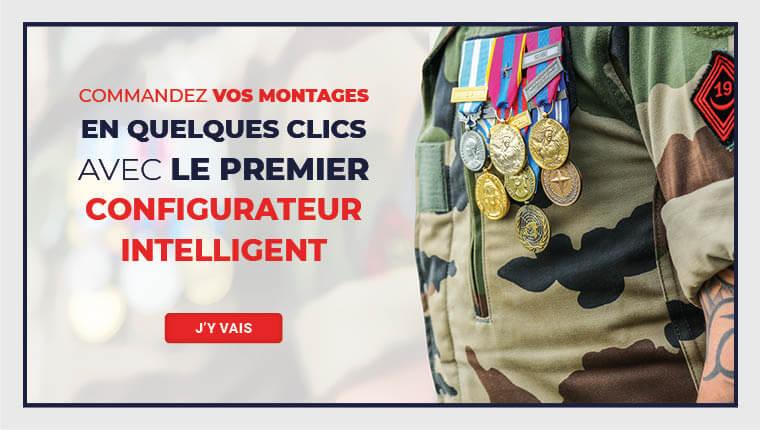 Montage de médailles militaires - Achat en ligne