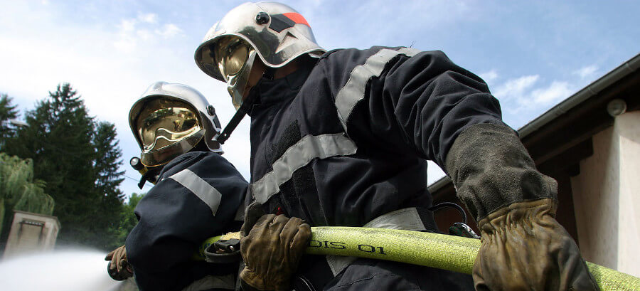 bandeau sapeurs pompiers lance incendie